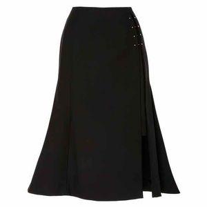c447664525 Adeam Skirts - ADEAM Side Slit Flared Skirt in Black (Size 2)